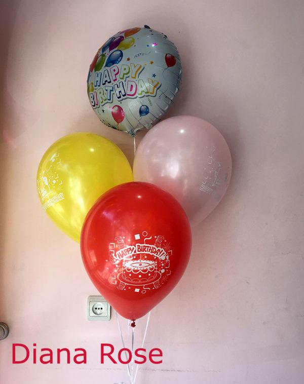 Հելիում գազով Happy birthday փուչիկներ
