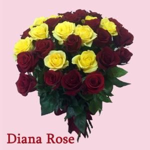 31 կարմիր և դեղին վարդերից փունջ